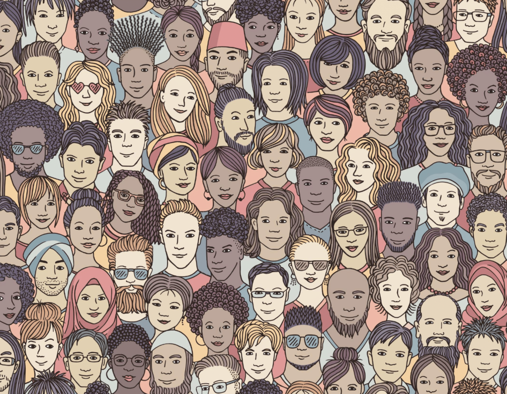 A crowd of diverse people